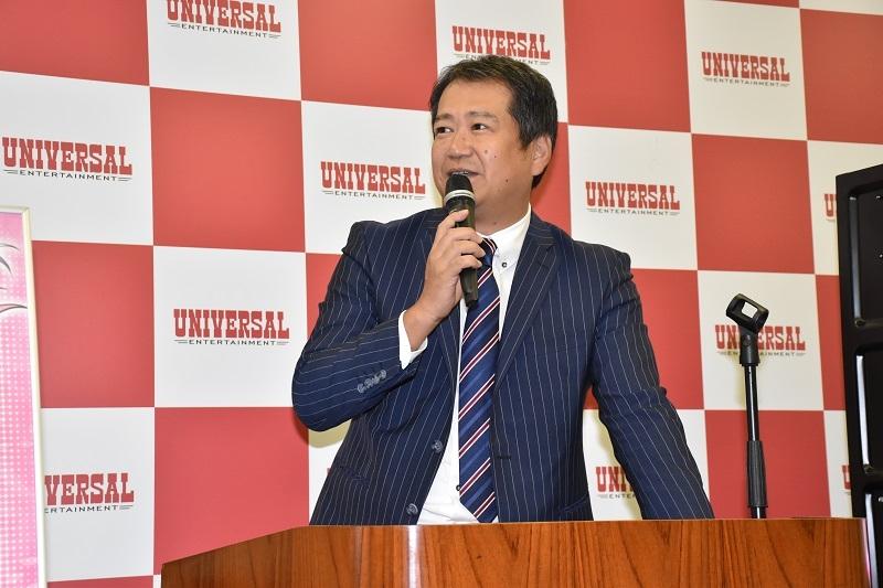 プレス発表会の冒頭で長谷川室長は「全方向でユーザーの皆様に楽しんでいただける遊技機として開発できた」と、同機への自信をのぞかせた。