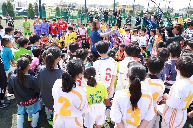 大会では元サッカー日本代表の北澤選手による「サッカークリニック」なども行われた。