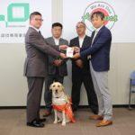 回胴遊商東北支部、日本盲導犬協会に寄付金