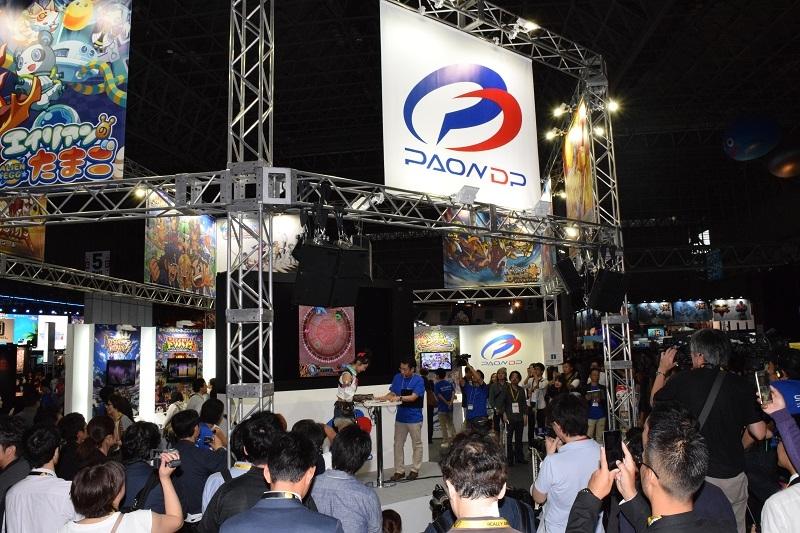 パオン・ディーピーのブースでは新作タイトル含む8つのゲームアプリを体験できるコーナーを展開した。
