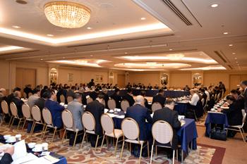 11月13日に都内ホテルで開かれた全日遊連の全国理事会。