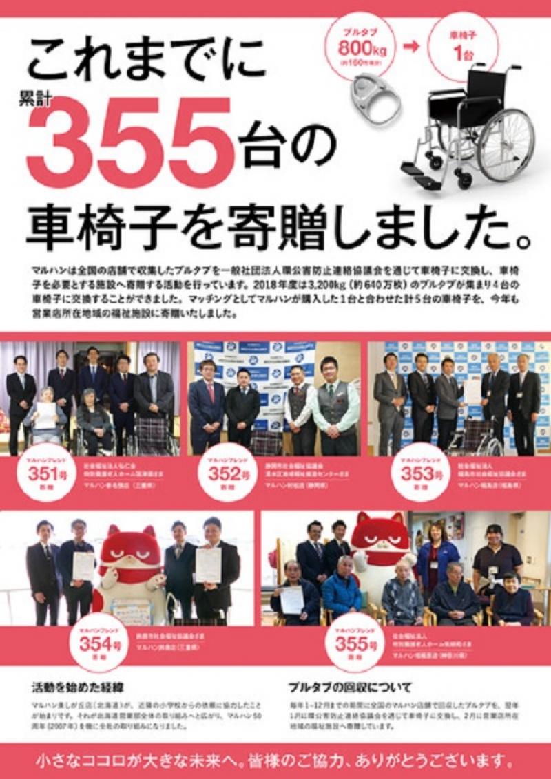 2018年度車椅子寄贈報告ポスター