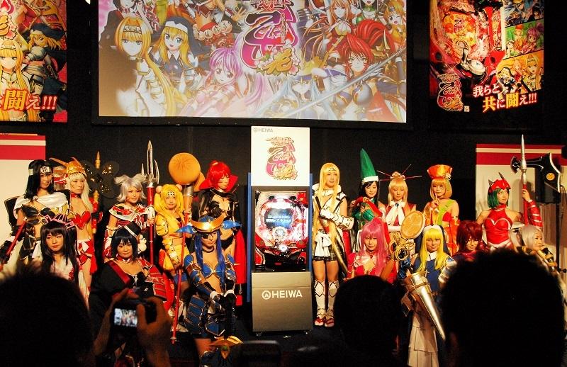 イベント開始前には『CR戦国乙女 花』のプレス発表が行われ、機種の概要説明とフォトセッションが行われた。