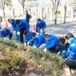 関西遊商、浪速公園で植栽活動