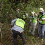回胴遊商が「やどりき水源林内」下草刈りを実施