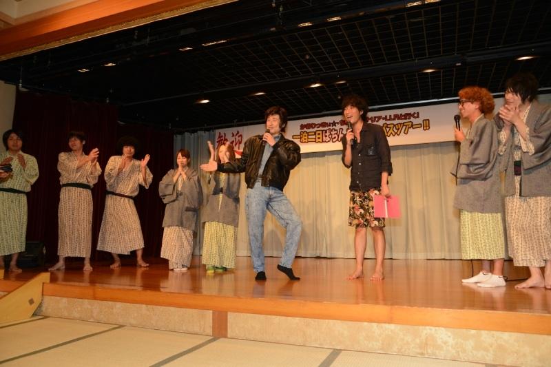 大宴会にはなだぎ武さんがスペシャルゲストとして登場。「藤岡弘、」さんのモノマネで宴席に爆笑の渦を巻き起こした。