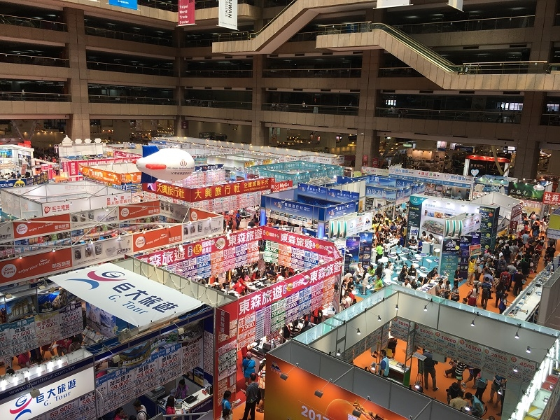 「TITE 台湾国際旅遊展」には約200企業が出展していた。