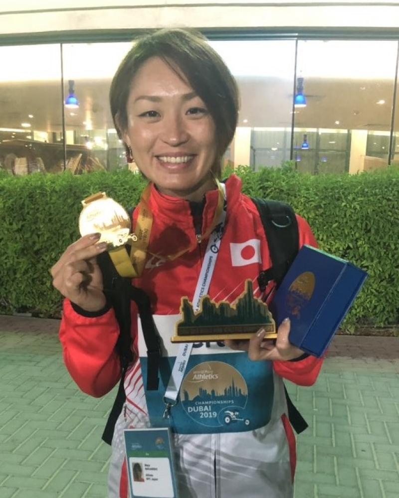 逆転優勝で自身初の金メダルを獲得し、東京パラリンピック代表に内定した中西麻耶選手。