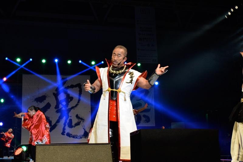 2回目の参加となった角田信朗さんは、花の慶次シリーズの楽曲で会場を盛り上げた。