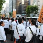 児童虐待防止願い「オレンジリボン運動」に参加