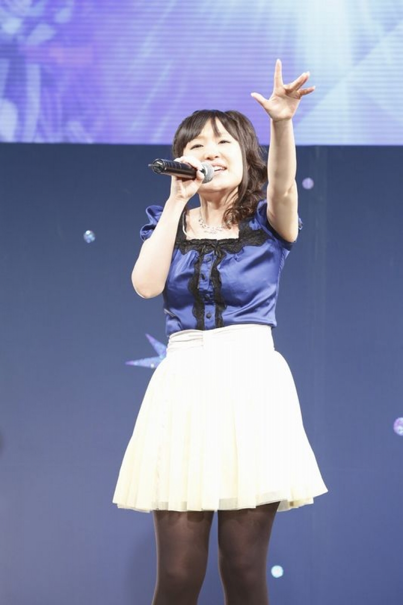 中恵光城さんは同機の楽曲として使用される「扉Door」「daybreak」の2曲を披露した。