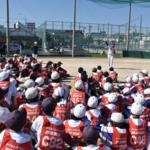 足立区4遊技場組合がヤクルト野球教室で地域貢献