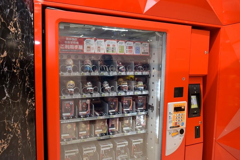 賞品自動販売機でも遊技客が賞品交換できる。