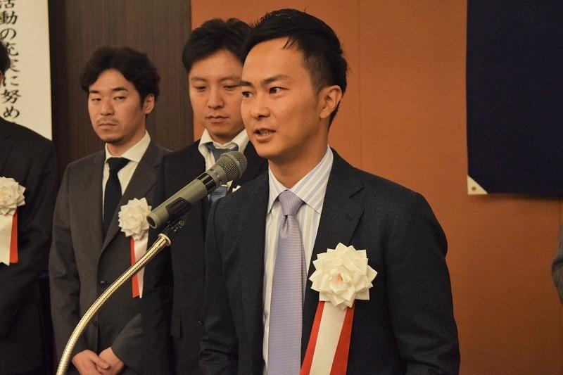 新部会長に選任された米田邦広氏。