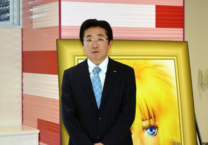 1月から東京支店の支店長に就任した柴沼支店長。