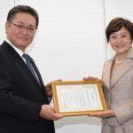 回胴遊商が養子縁組支援団体に100万円を寄付