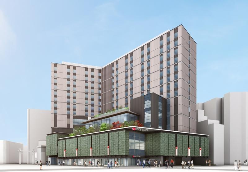 浅草六区の再開発プロジェクトとして進められている東京楽天地浅草ビルの外観イメージ。
