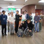 プルタブと交換した車椅子を福祉施設に寄贈