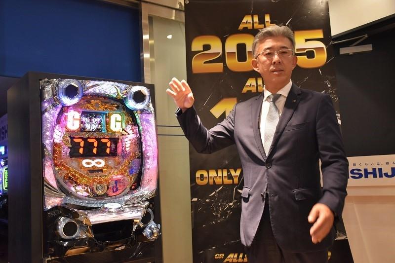 『CR ALL2025 with 100』に自信を覗かせた営業企画室の安田健太郎室長。