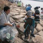 アサヒディード、従業員家族一丸で大和川を清掃