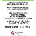 澤田グループが口永良部島義援金などで募金活動