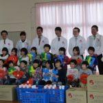澤田グループが県内の保育園に玩具などを寄贈
