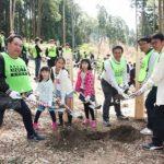 回胴遊商・近畿支部、新たな場所で植樹活動