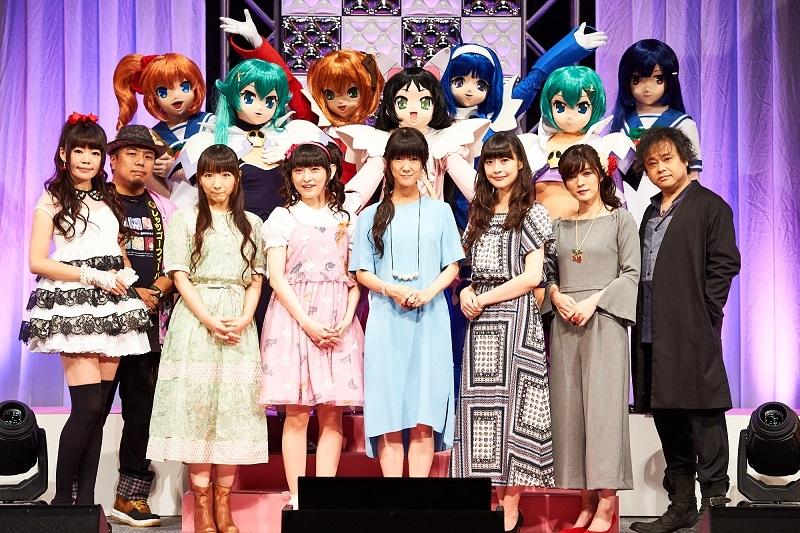 出演者の方々。トークショーや音楽ライブが行われたほか、新作ゲームや新作アニメの最新情報が公開された。