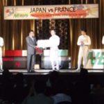ネクサスがフェンシングチーム創設の記念試合