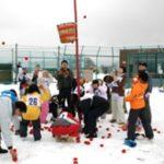 養護施設園児を招いて太陽グループが雪中運動会