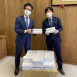 キング観光、桑名市役所へマスク5,000枚を寄贈