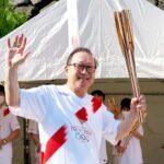 成通グループの千原代表が、聖火リレーの代替イベントに参加
