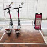 玉屋本店に電動キックボード「mobby」のポートを設置