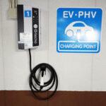 玉屋本店に電気自動車の充電器を設置